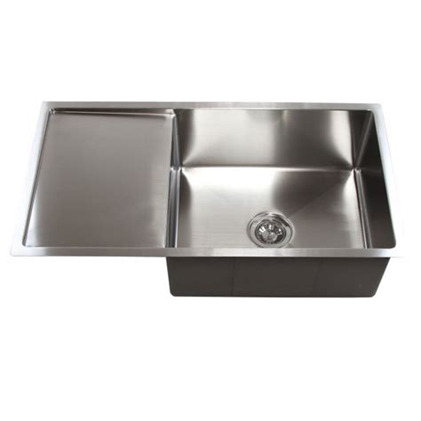36 Inch Stainless Steel Undermount Single Bowl Kitchen Bowl Kitchen Sink With Drainboard