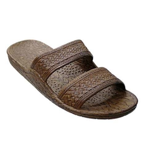 brown hawaiian sandals pali hawaii unisex ph 405 brown slide sandal