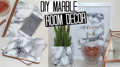 marble home decor diy marble room decor easy affordable youtube