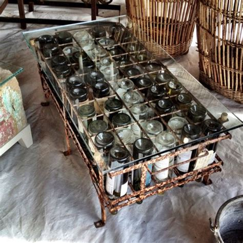 wine bottle table l wine bottle coffee table on display in warrenton tx this
