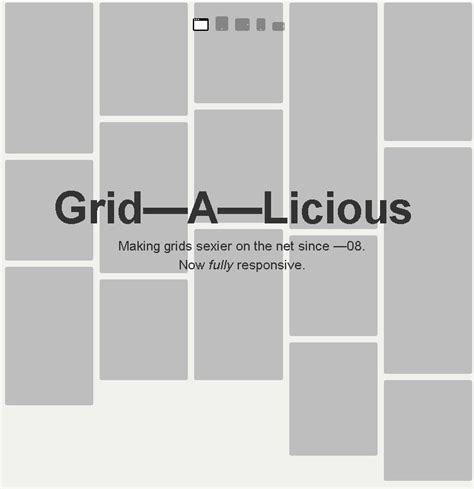responsive layout grid html grid a licious awesome responsive grid layout free