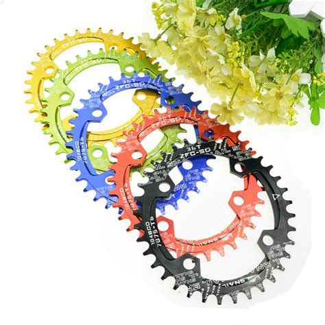 Chainwheel Sepeda 104bcd 34t snail 104bcd 32t 34t 36t38t ultralight a7075 alloy mtb bike bicycle narrow wide chainring oval