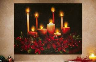 flickering led lighted poinsettia canvas musical