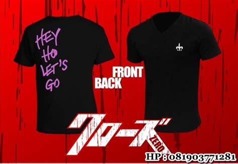 Tshirt Baju Kaos Nomi Lets Go t shirt crows zero v neck genji takiya hey ho let s go