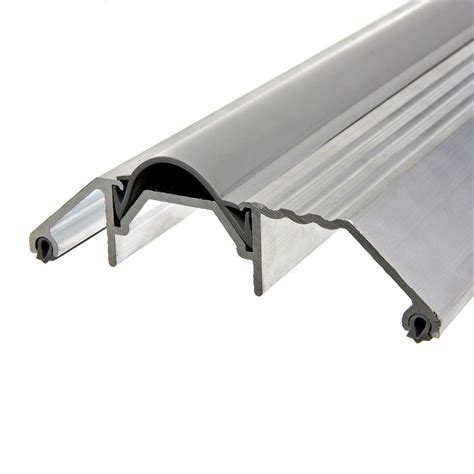 Aluminum Door Thresholds Exterior King E O 3 3 4 In X 36 In Silver High Rug Aluminum Threshold With Vinyl Insert Dt36hrha