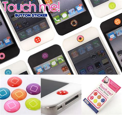 touch me home button stickers for iphone ipod touch and