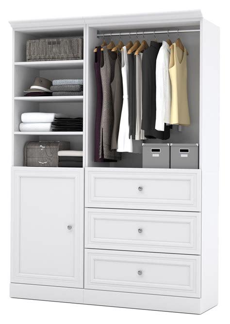 Versatile Wardrobe by Versatile White 61 Storage Wardrobe From Bestar 40874
