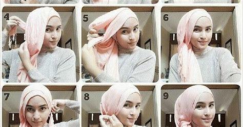 tutorial berhijab selendang cara memakai jilbab segiempat panjang shawl tutorial