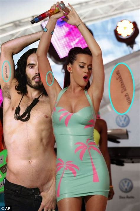 katy perry matching tattoo song katy perry and russell brand prove love with matching