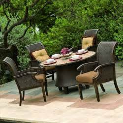 Outdoor Patio Table And Chairs Wicker And Aluminum Outdoor Dining Table And Chair Set