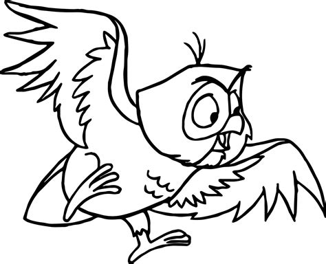 Sleeping Owl Coloring Page | man sleeping coloring pages