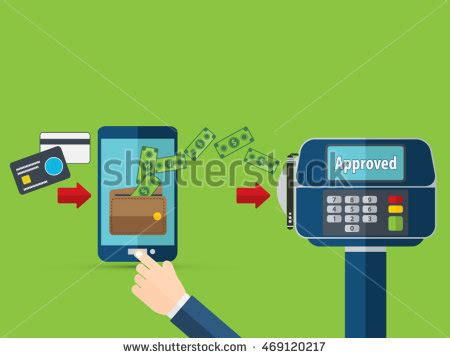 design by humans payment nfc payment flat design style vector stock vector