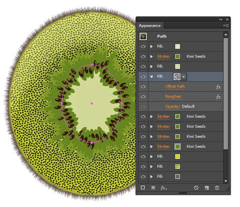 illustrator tutorial kiwi create a sliced kiwi fruit with only one shape in adobe