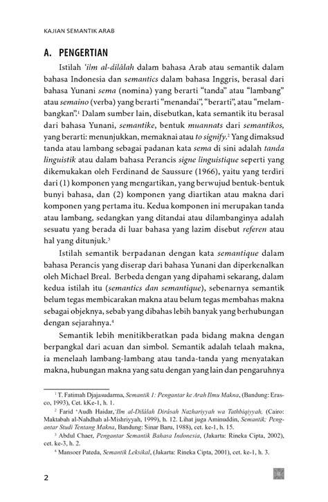 Kajian Semantik Arab Book by Prof. Dr. Moh. Matsna HS., M