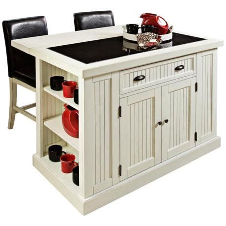 portable kitchen island with bar stools nantucket distressed white kitchen island with 2 bar stools