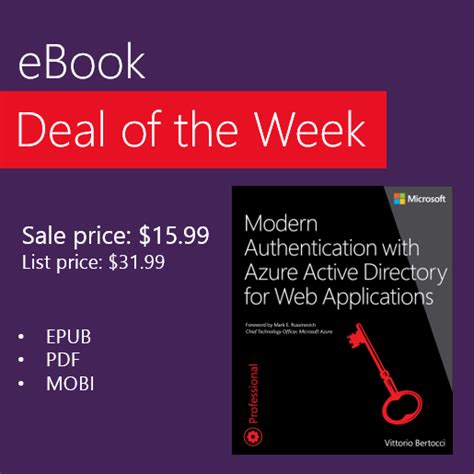 Deal Of The Week 20 At Baker by Ebook Deal Of The Week Modern Authentication With Azure