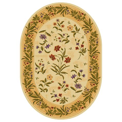 shop shaw living summer flowers oval floral area rug