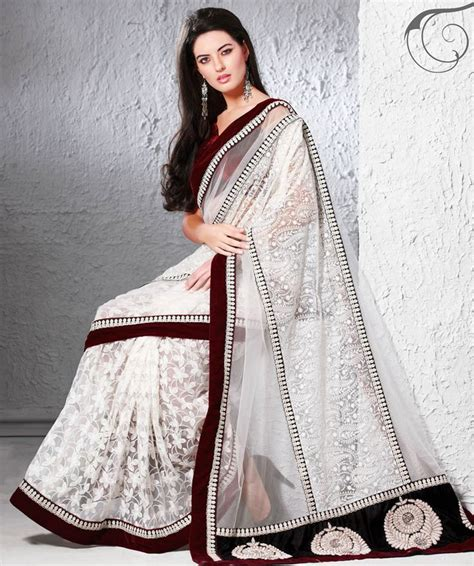 Blouse Atasan Blouse Hanny Rs beautiful net saree with velvet blouse rs 3899 http