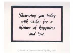 wedding shower card message wedding shower wishes quotes quotesgram