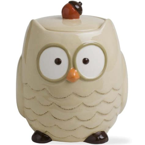Owl Kitchen Canisters by Ceramic Cookie Jar Autumn Owl In Kitchen Canisters