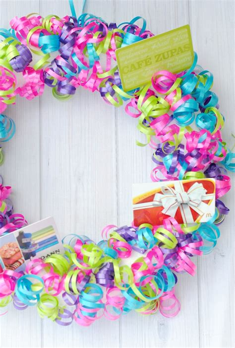 Gift Card Idea - gift card wreath fun gift idea crazy little projects
