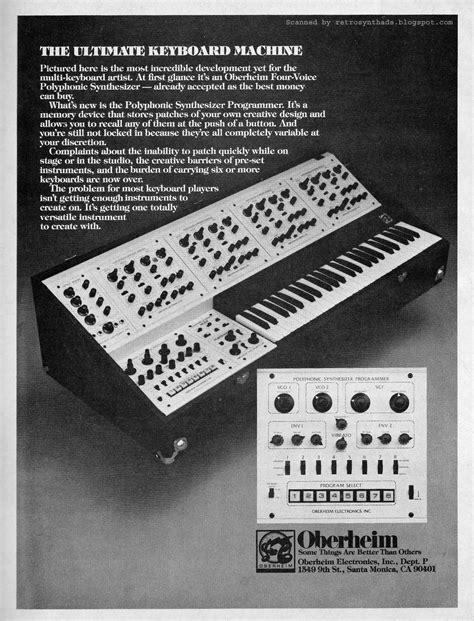 """Retro Synth Ads: Oberheim """"Fed up with playing only one"""