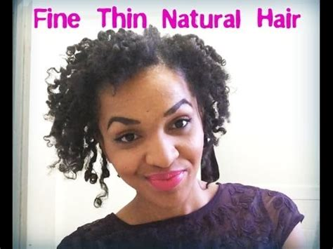 best hairstyles for fine natural hair maintaining a defined twist curl fine thin natural