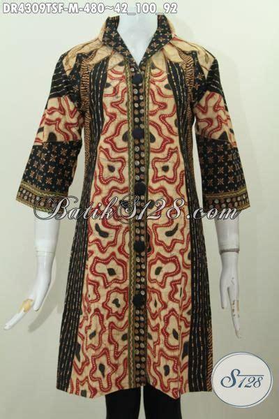 Batik Kesik Soga baju dress batik premium desain mewah proses tulis pewarna soga pakaian batik formal wanita