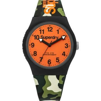 Promo Jam Tangan Pria Superdry Digital Orange superdry watches free delivery shade station
