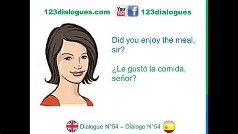 preguntas en frances en un hotel dialogue 54 ingl 233 s spanish restaurant ask for the