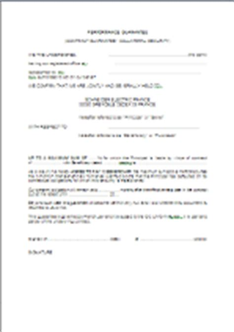 Performance Guarantee Letter Sle Garantie De Bonne Ex 233 Cution En