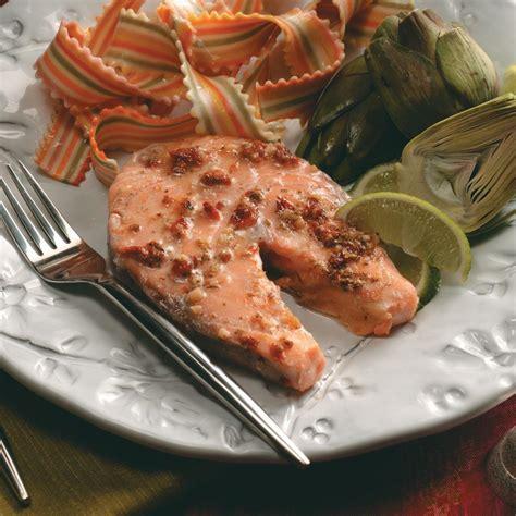 baked salmon steaks recipe taste  home