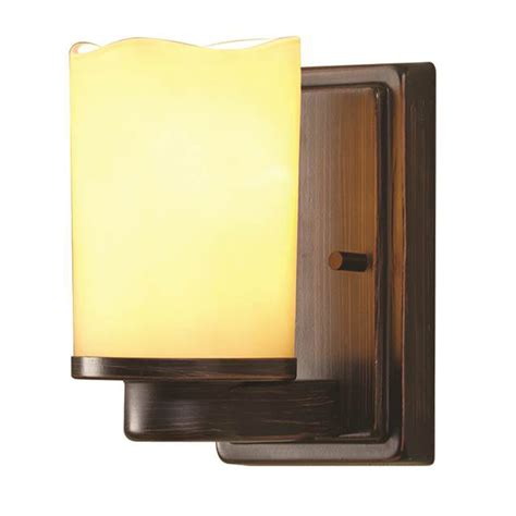Allen Roth Wall Sconce shop allen roth harpwell 4 5 in w 1 light rubbed bronze arm wall sconce at lowes