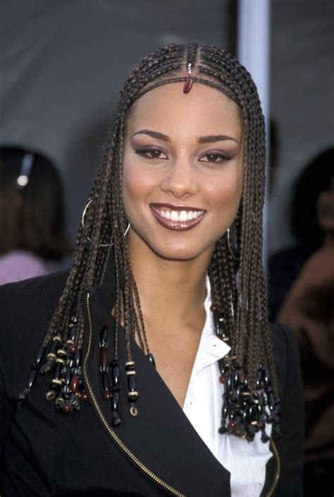 alica keys differnt brai hair styles alicia keys most head turning hairstyles of all time