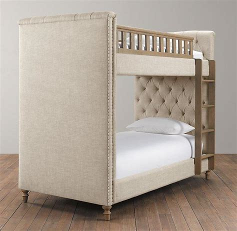 tufted bunk bed chesterfield upholstered grey bunk bed