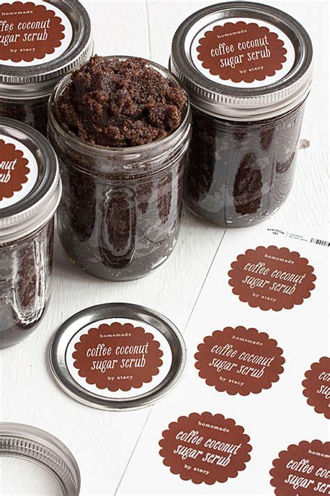 coffee coconut sugar scrub gift favor ideas