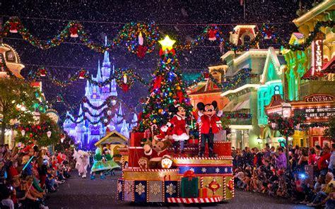 disney christmas parade  main street widescreen