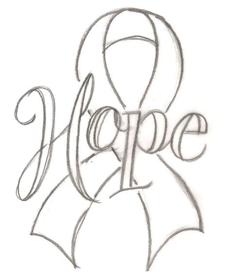 breast cancer ribbon vector outline breastcancerinfoblog