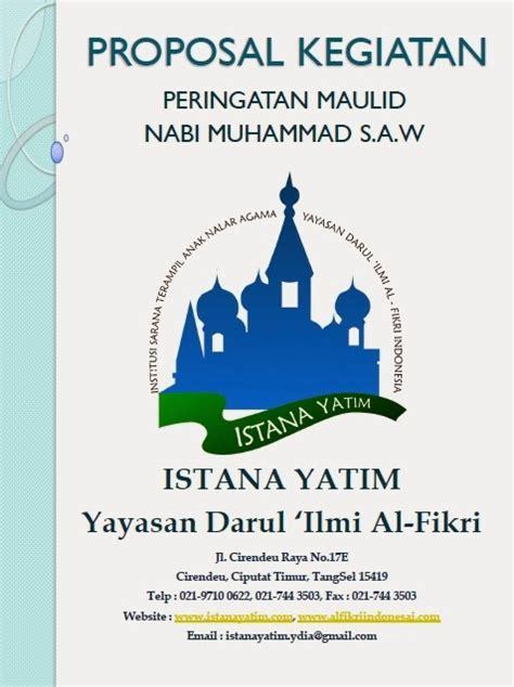 proposal maulid nabi contoh proposal peringatan maulid nabi muhammad saw adi