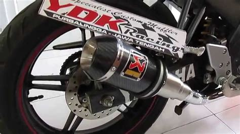 Knalpot Racing Yamaha Vixion Akrapovic Lorenzo Rainbow ydk racing sound knalpot akrapovic gp lorenzo carbon new