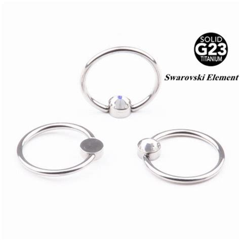 how do captive bead rings work 20pcs 16g 100 titanium captive bead rings nose