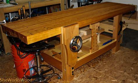 my work bench my workbench journey she works wood