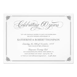 700 60th wedding anniversary invitations 60th wedding anniversary announcements invites zazzle