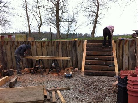 Cutting Railway Sleepers by Steps From New And Used Railway Sleepers