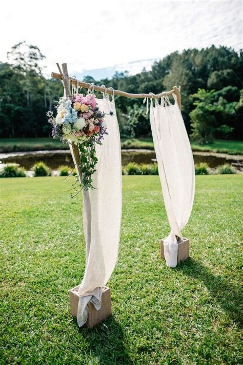 Wedding Backdrop Australia by Australian Wedding At Mount Warning Ceremony