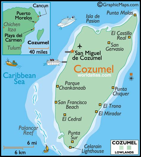 cozumel map map of cozumel city area map of mexico regional political geography topographic