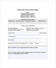 employee suggestion form template sle employee suggestion form 7 documents in pdf word