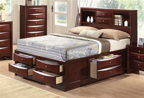Ashfield 4 Storage Bedroom Set by Limerick Transitional 4 Pc Storage Platform Bed Set