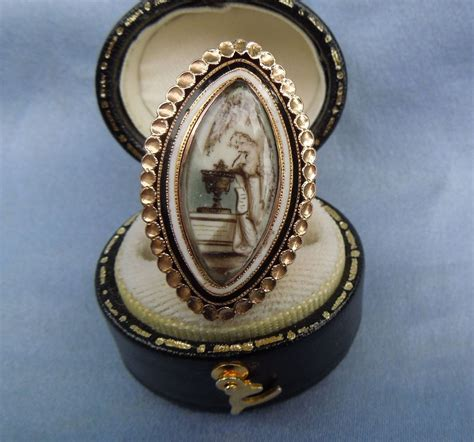 memorial jewelry mourning jewelry ring georgian from