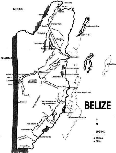 Coloring Page Of Map Of Belize | map of belize free coloring pages